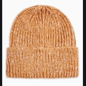 Topshop ribbed beanie NWT Camel women